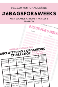 home declutter challenge sheets