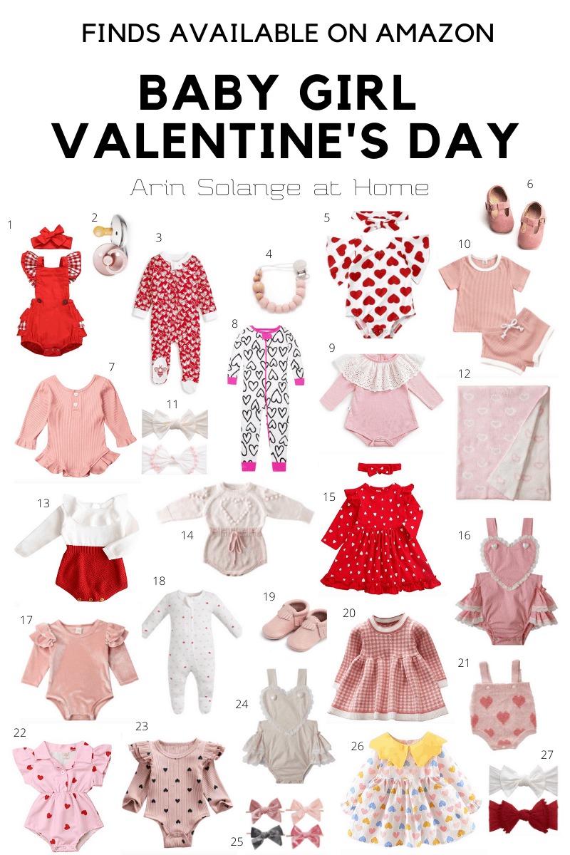 Baby girl Valentine's Day Outfits