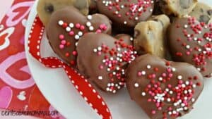 chocolate covered cookie Dough hearts