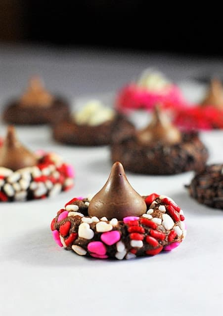 Valenines Day Hershey Kiss Cookies