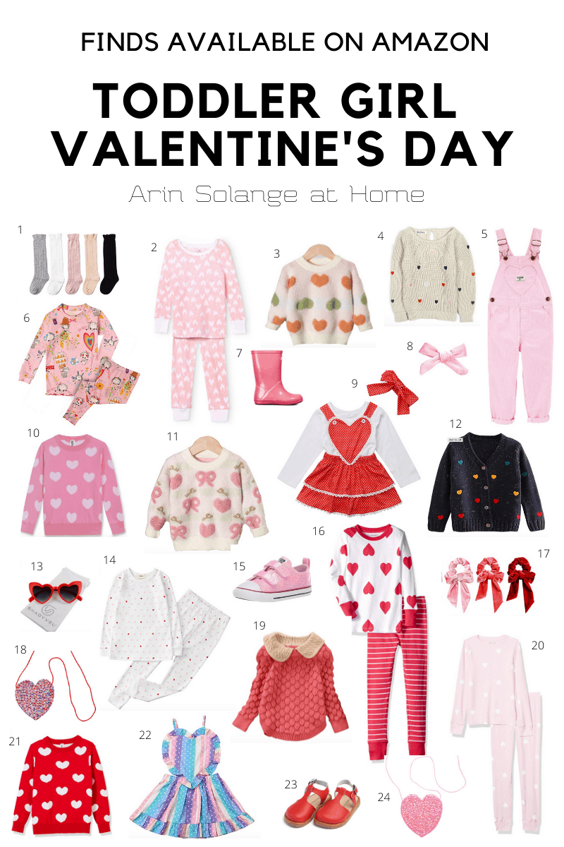 Toddler girl Valentine's Day outfits from Amazon