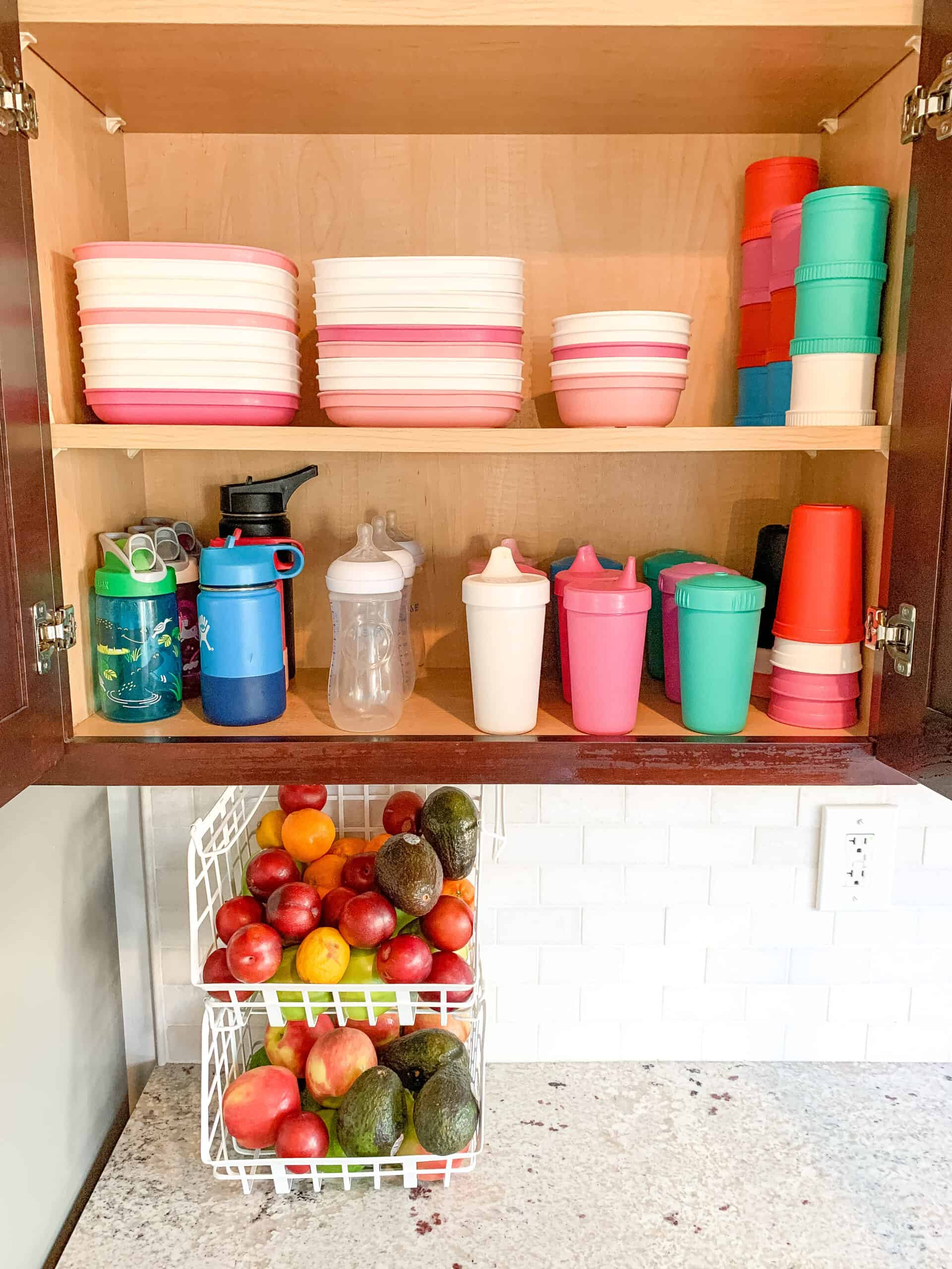 Organized Kid Cupboard