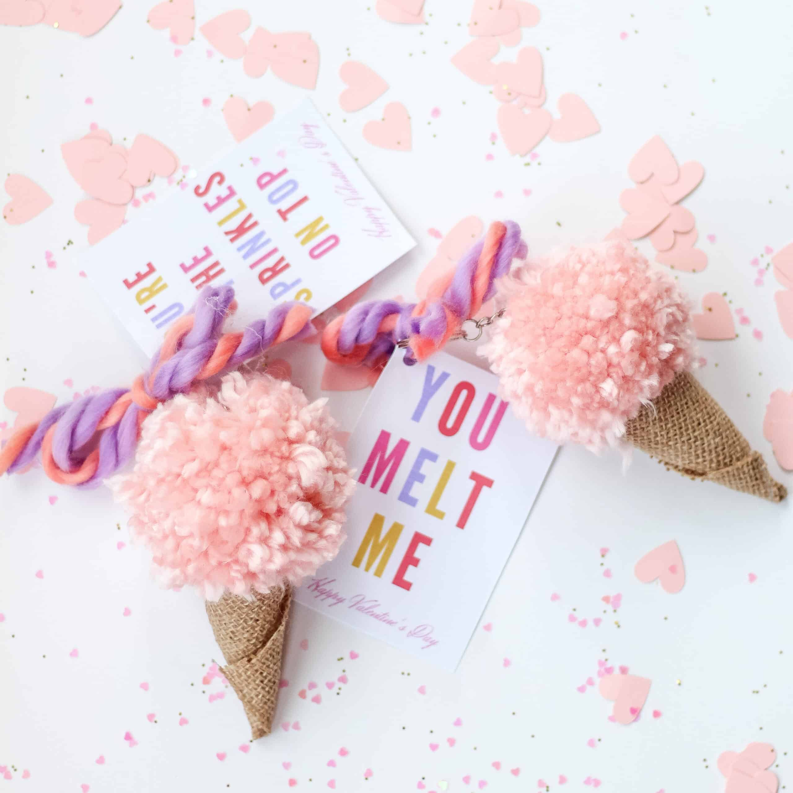 DIY ice cream cone Valentines