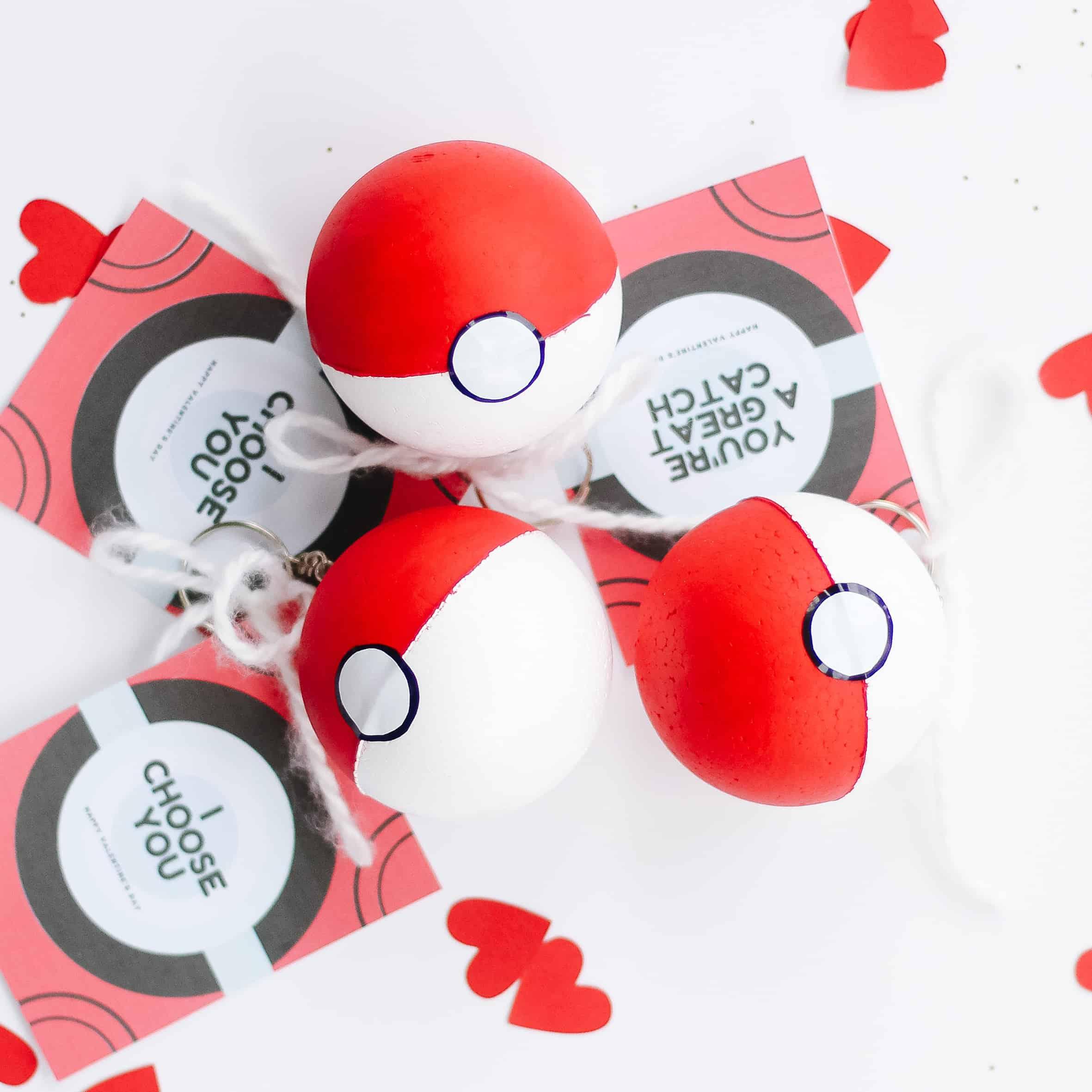 DIY poke ball valentines