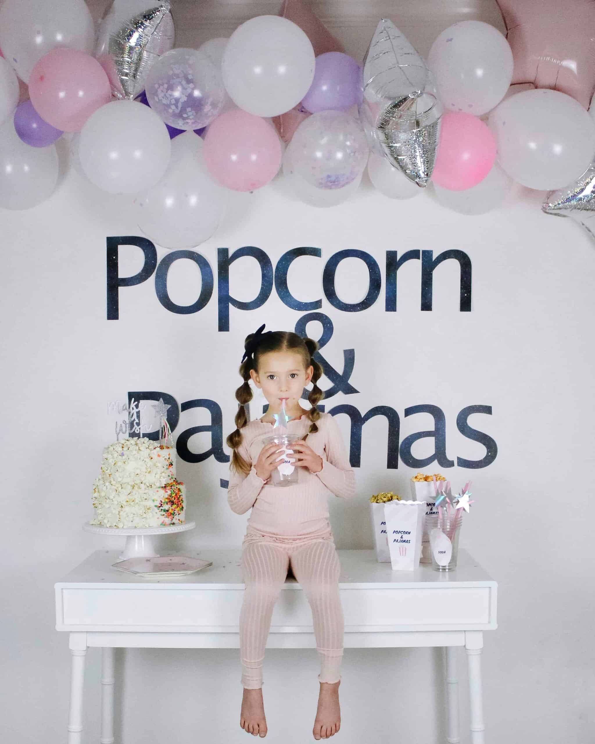 Popcorn and Pajamas Party