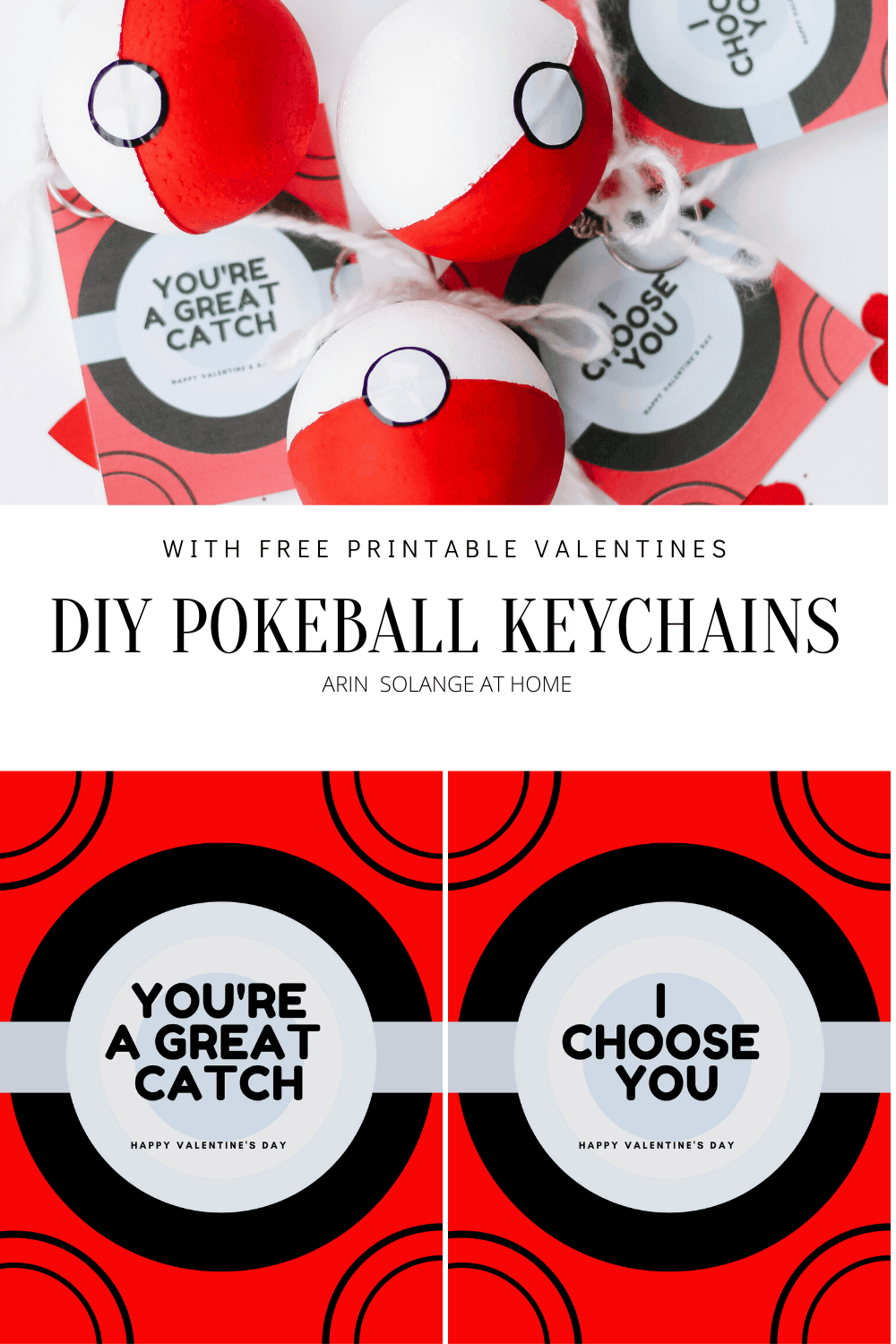 How to make a DIY Pokeball for Valentines Day