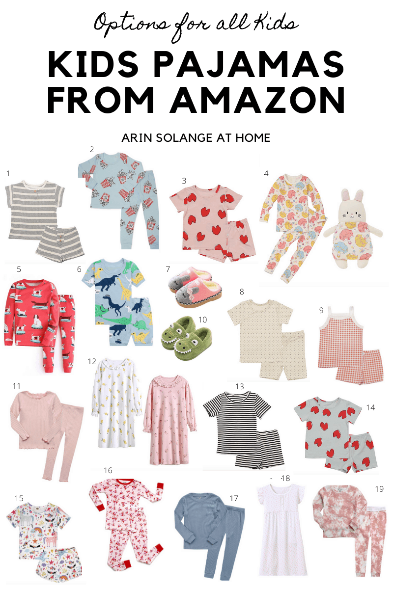 Kids Pajamas from Amazon
