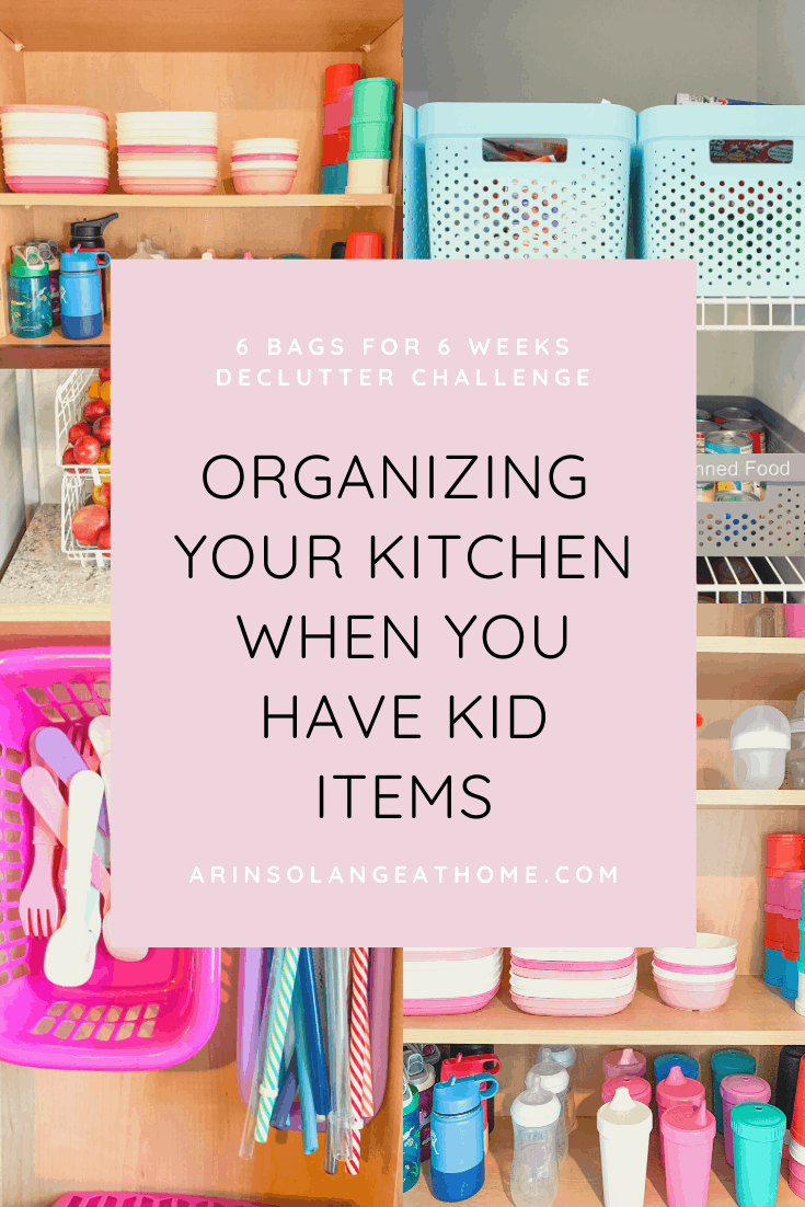 Organizing your kitchen when you have kid items