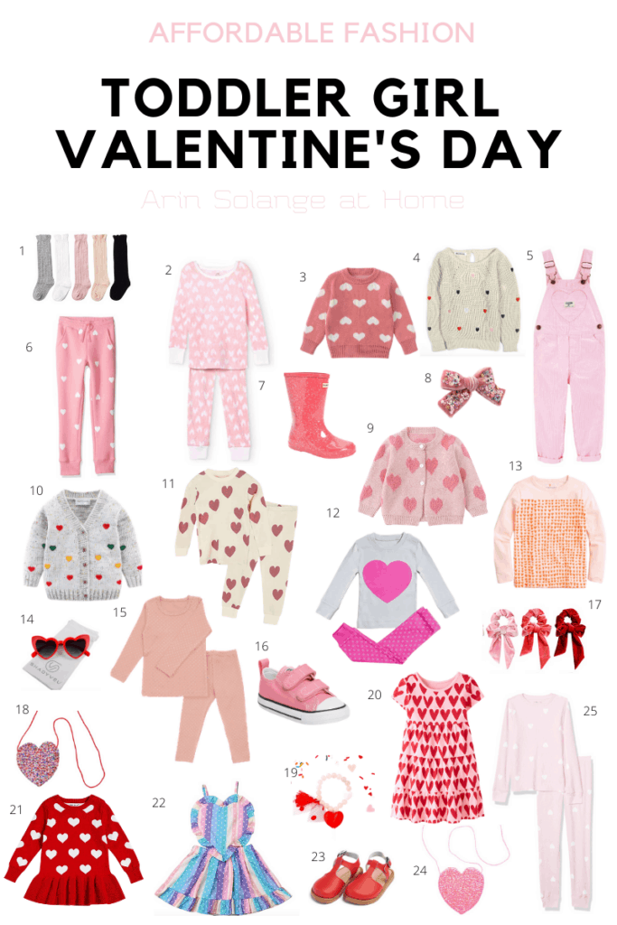 toddler girl Valentines day Outfits