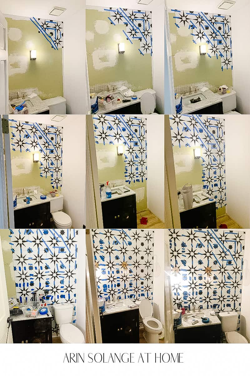step by step of a tile wall
