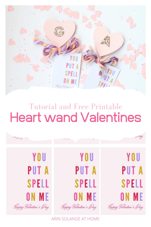 DIY Heart wand valentines