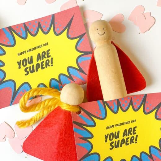 DIY superhero Valentines