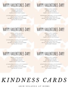 Free printable kindness cards