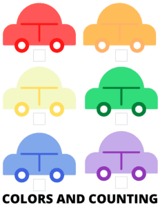 Color and Counting preschool printable
