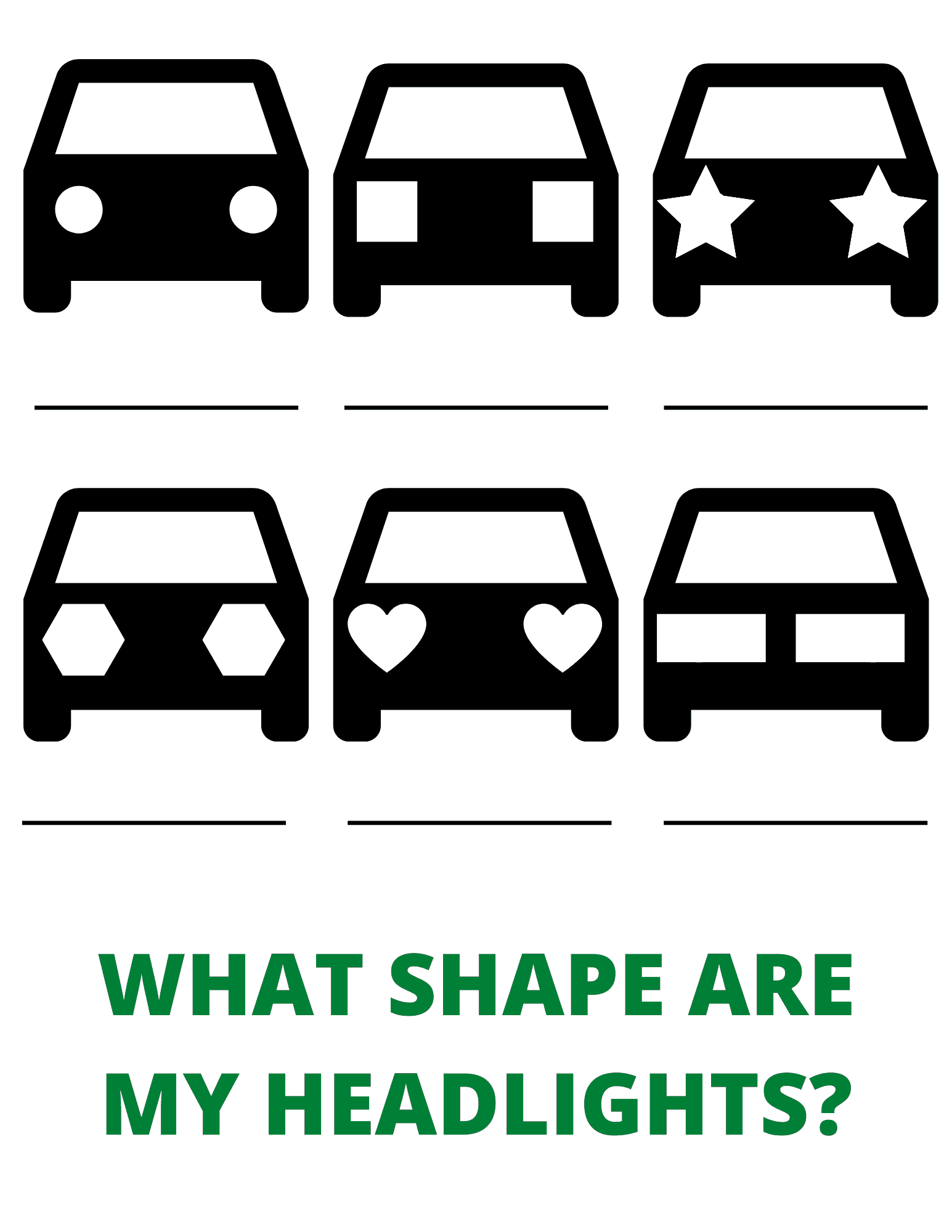 what shape are the headlights worksheet