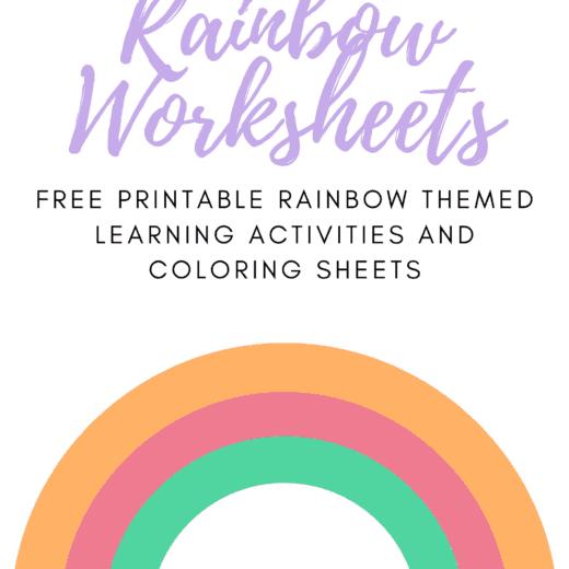 Free Printable Rainbow kids activities