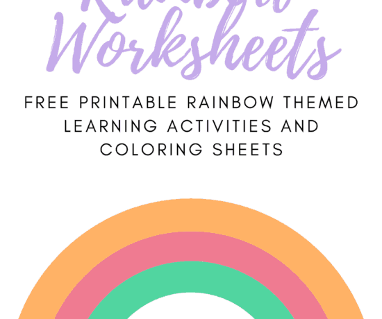 Free Printable Rainbow kids activities