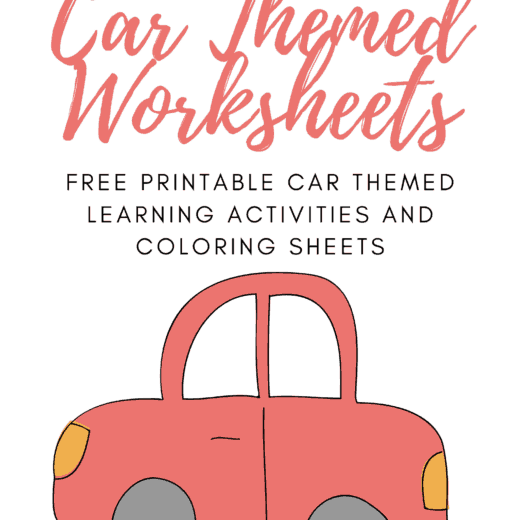 car themed free printable preschool worksheets