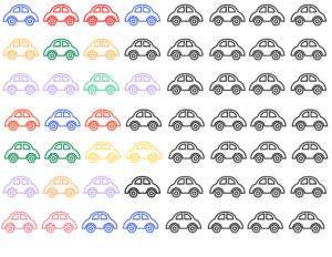 Free Car themed pattern worksheet