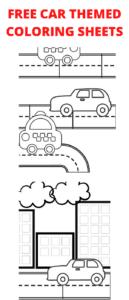 free car themed coloring sheets