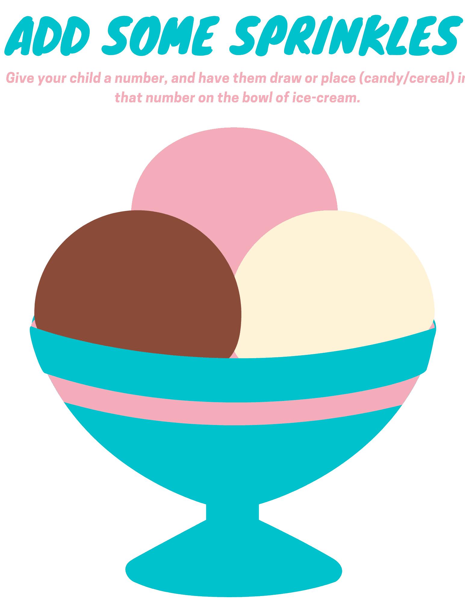 ice cream bowl toddler worksheet