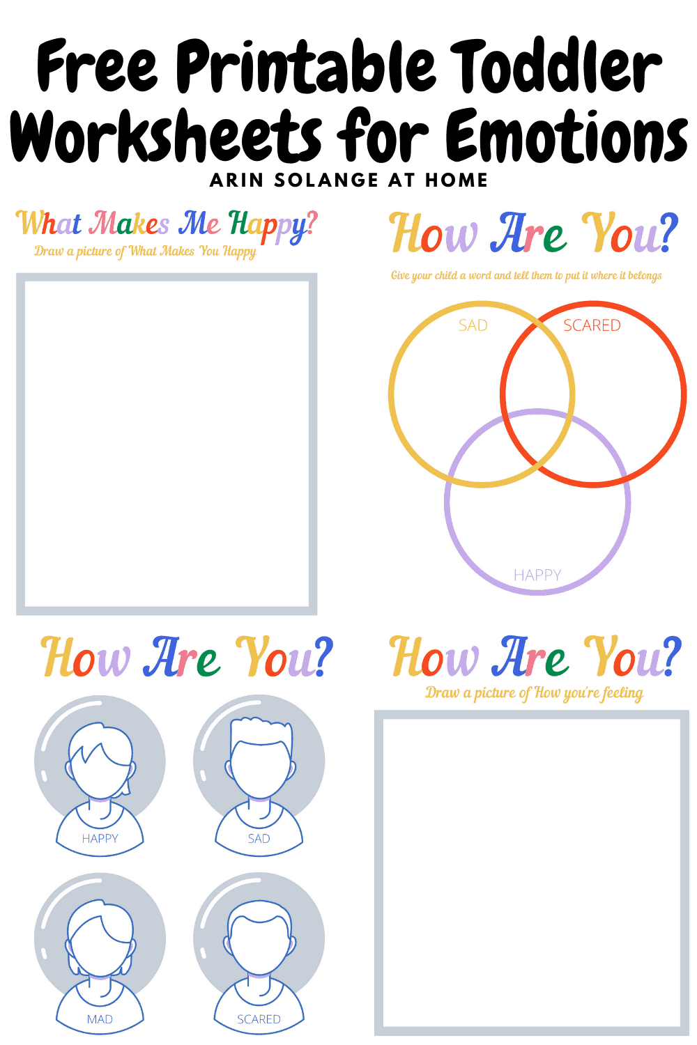 - Free Printable Toddler Worksheets For Emotions - Arinsolangeathome