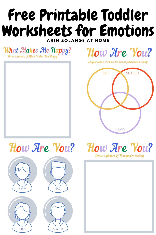 free printable toddler worksheets for emotions