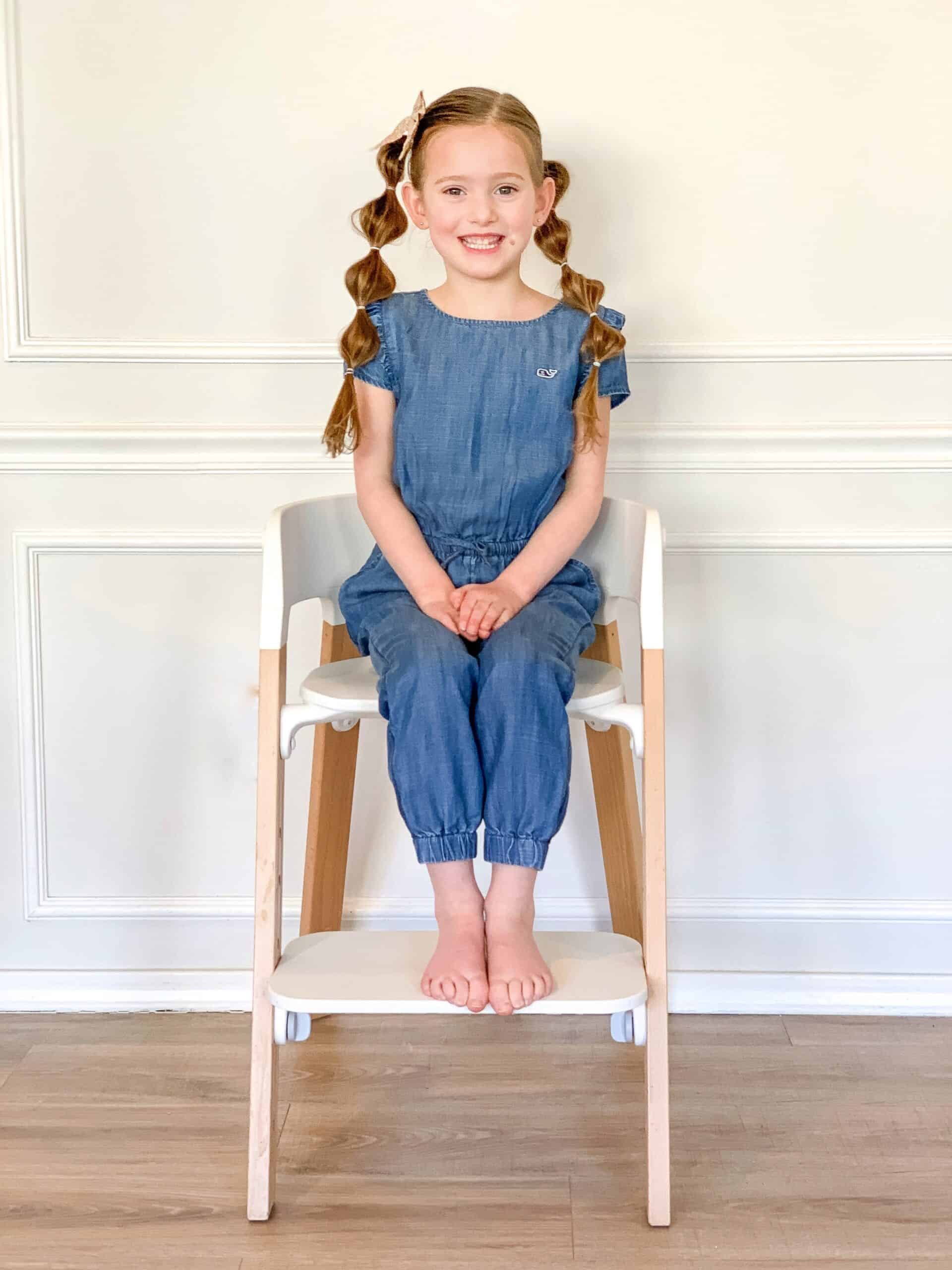 5 year old on Stokke Steps Chair