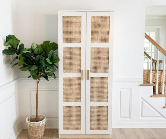 Cane sheeting in IKEA Brimnes Cabinet
