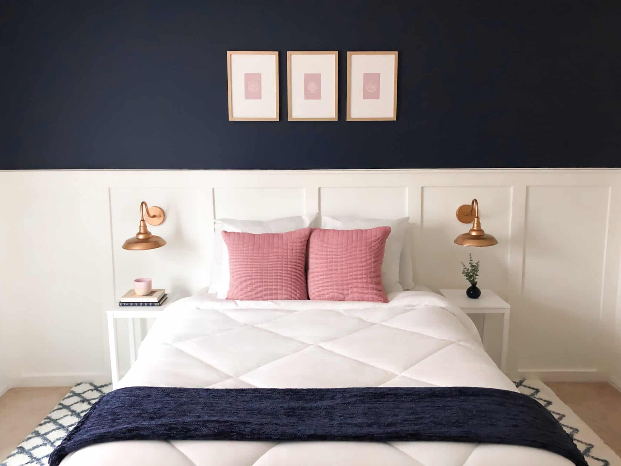 Navy Blue Master Bedroom