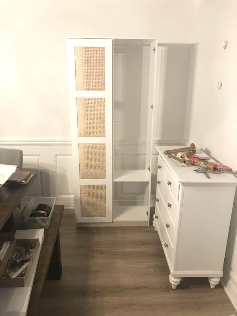 IKEA Brimnes Cabinet with cane doors - only one door on