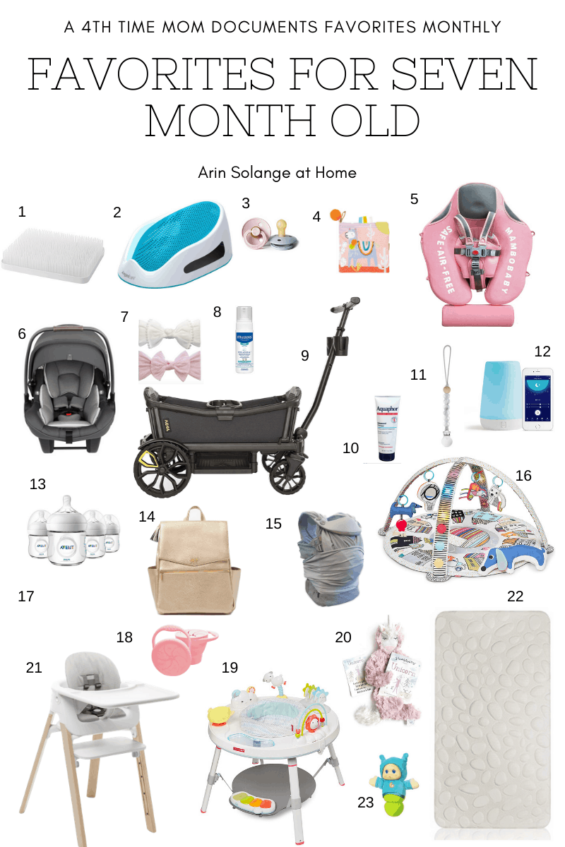 favorite items for a 7 month old baby