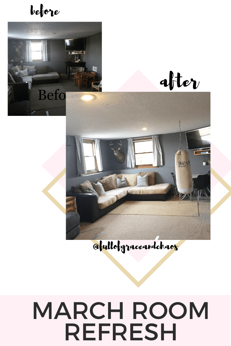 basement decor before and after
