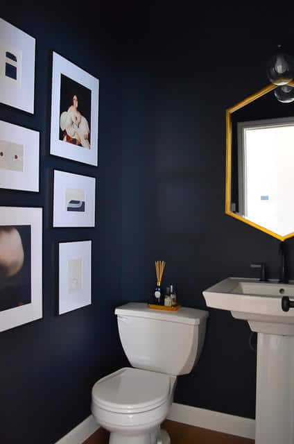 Navy blue Powder Room