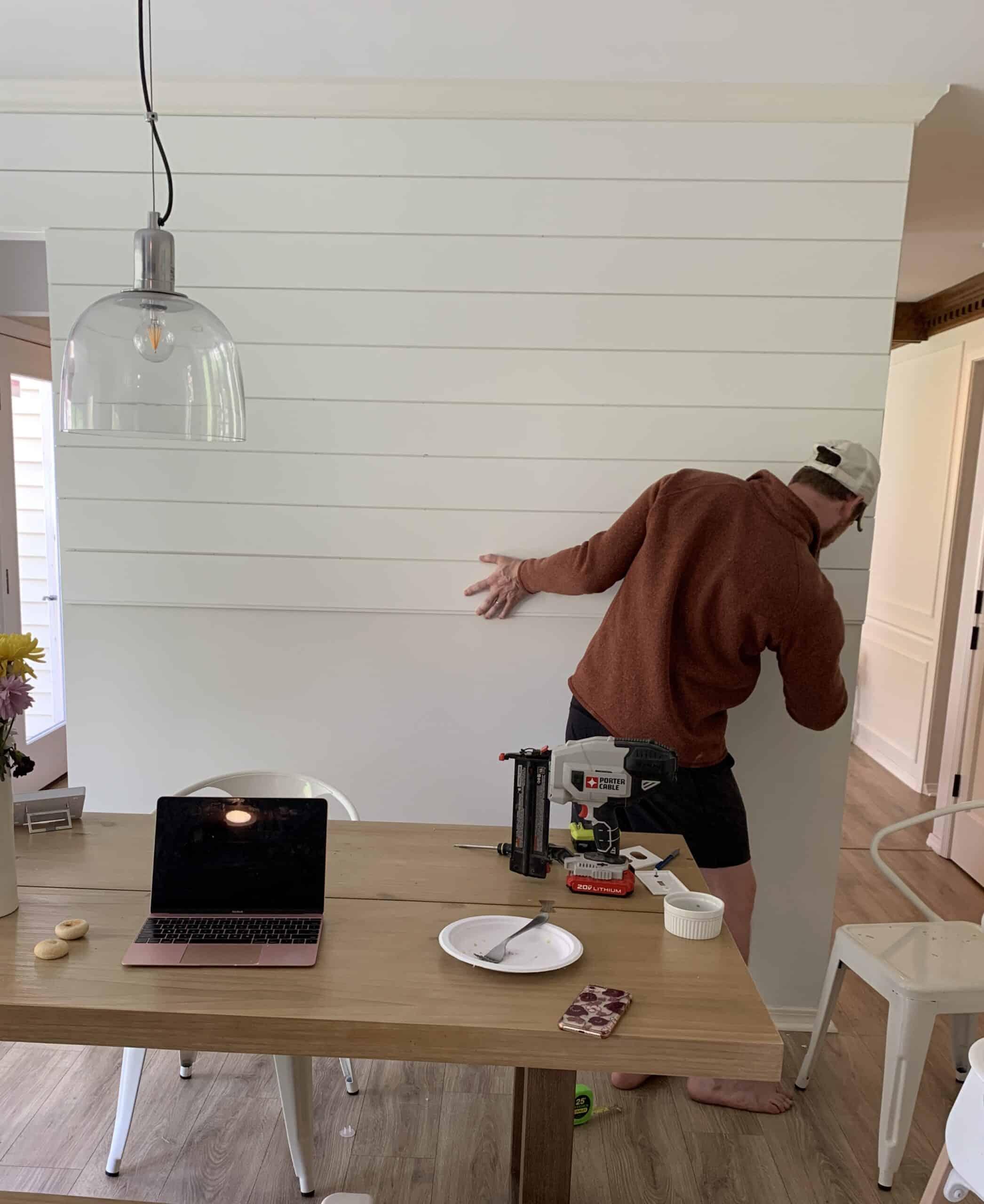 installing shiplap