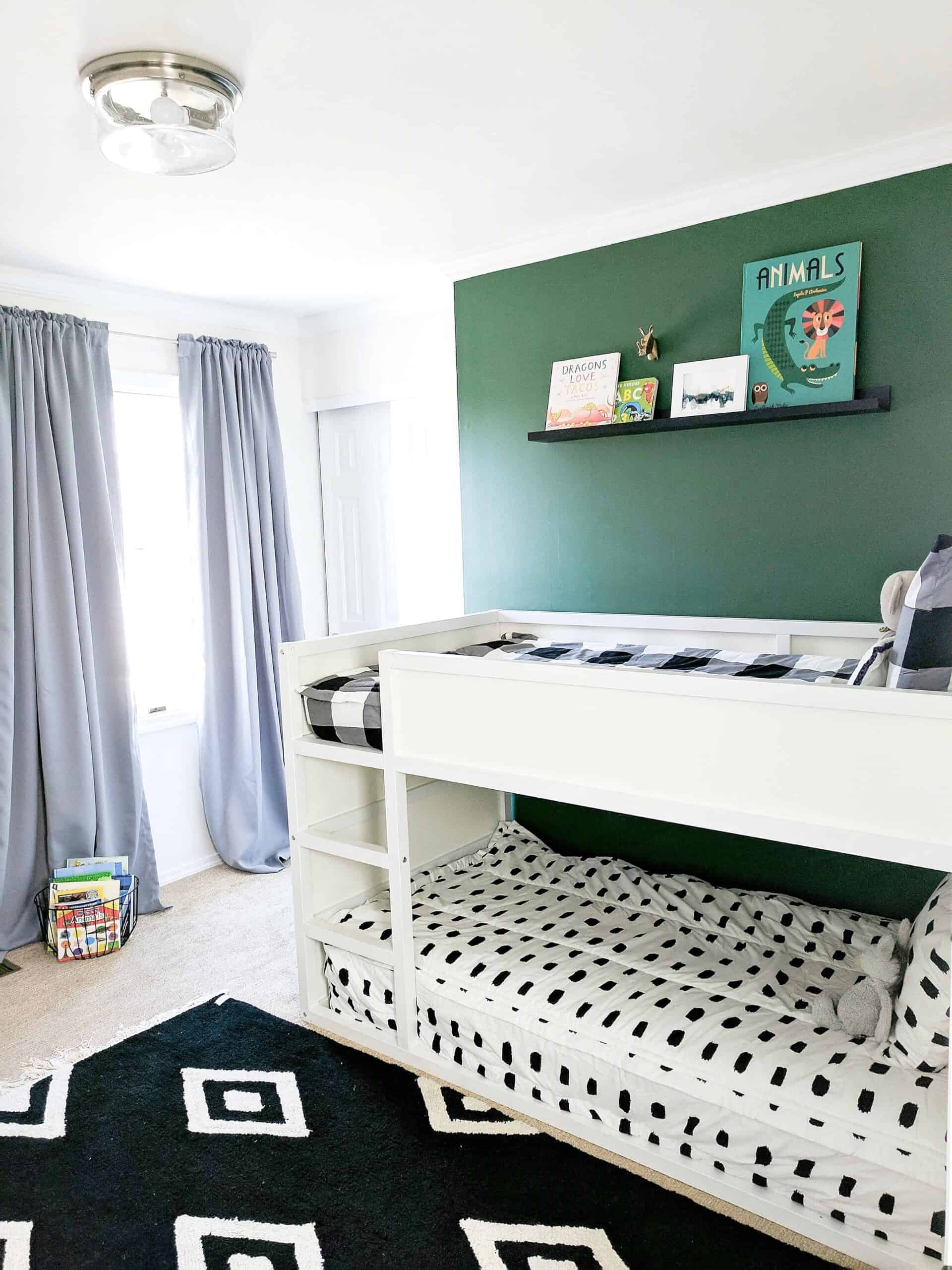 Modern boys room with bunk beds