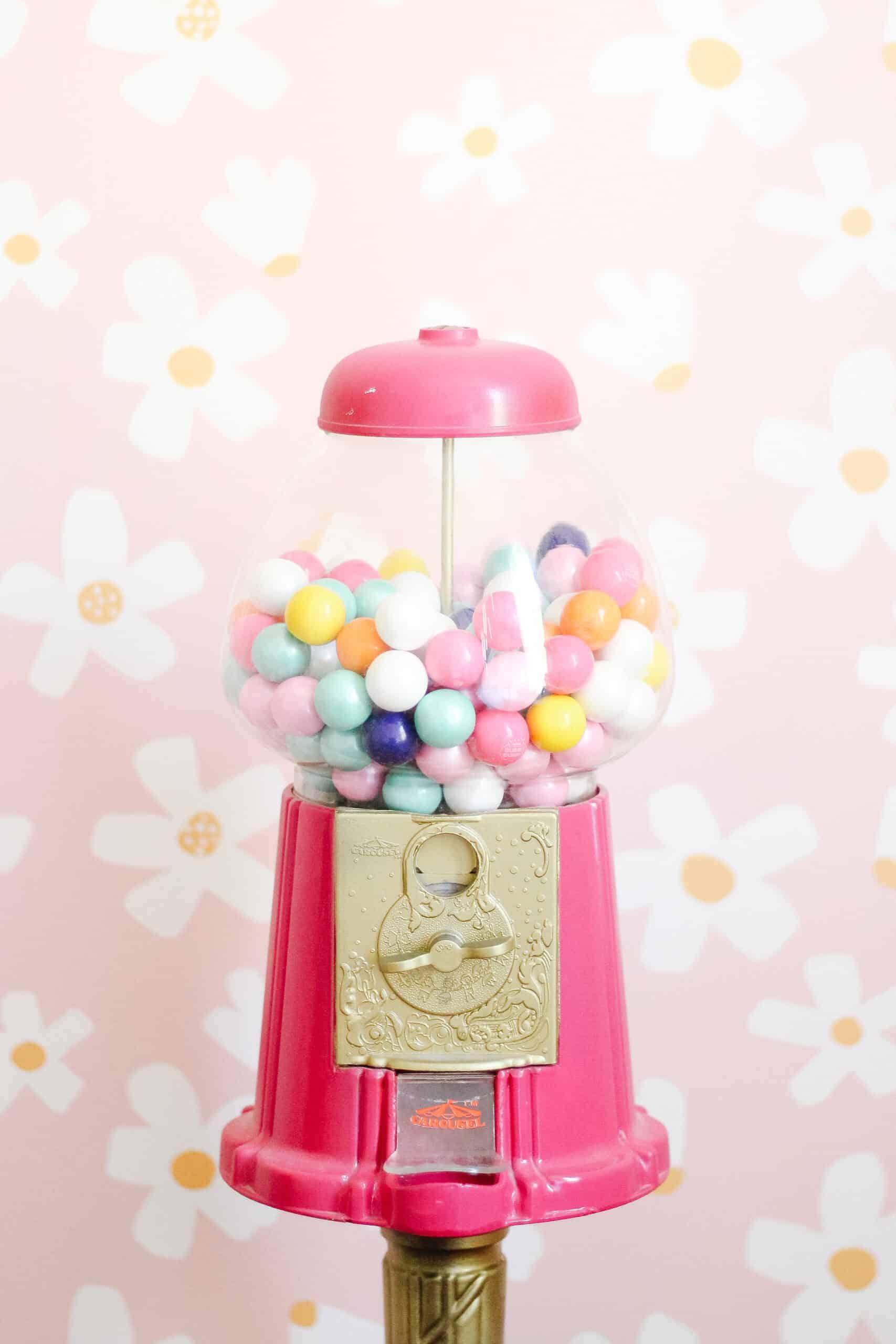 pink gum machine