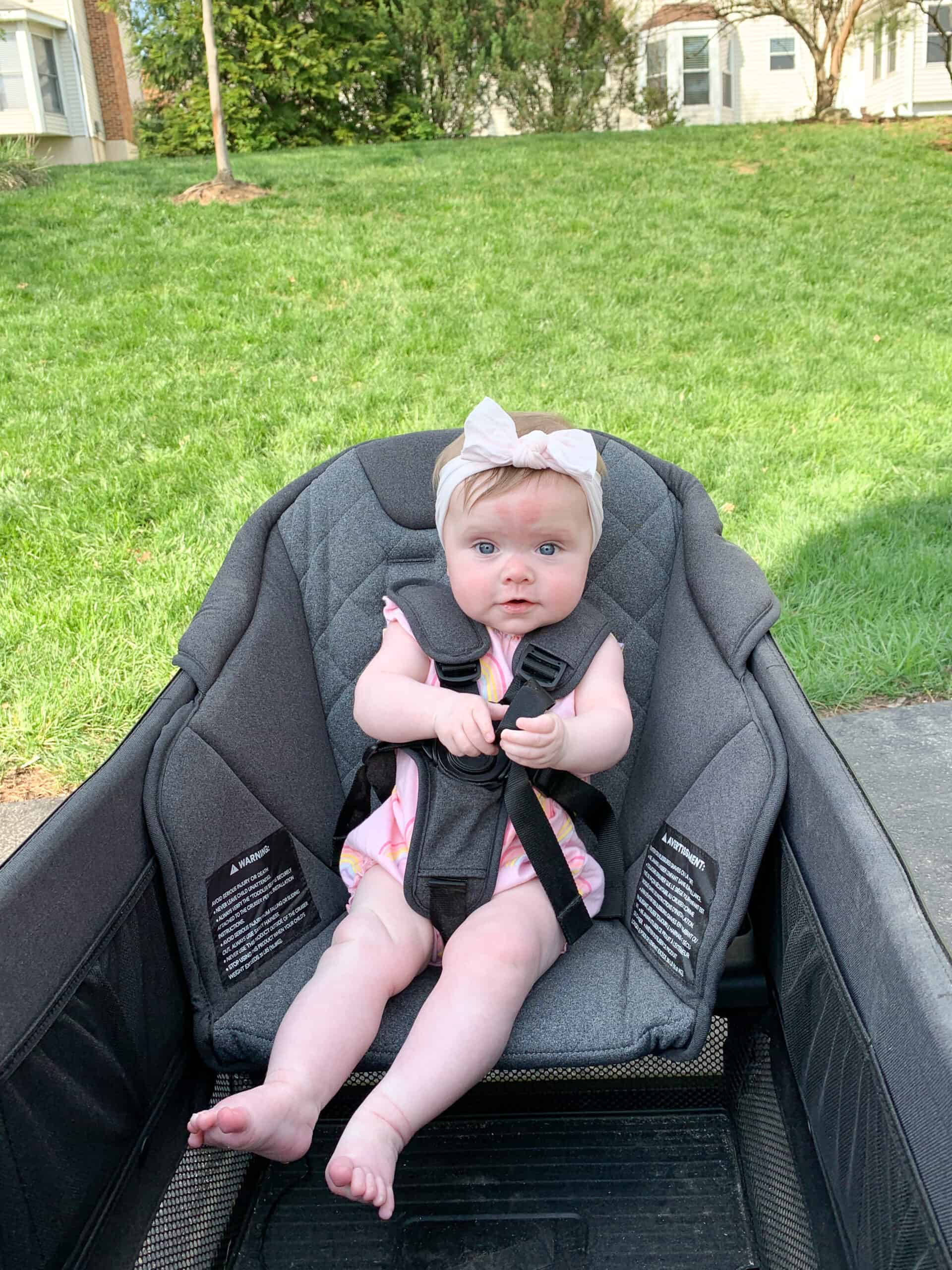 baby girl in veer wagon