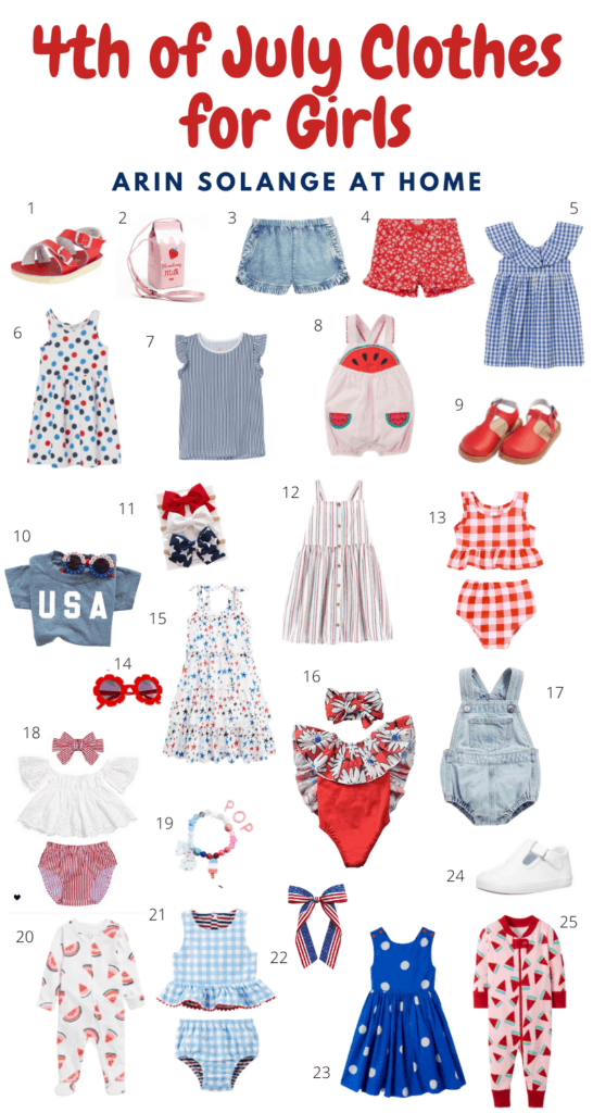 Toddler girl 4th of July outfits