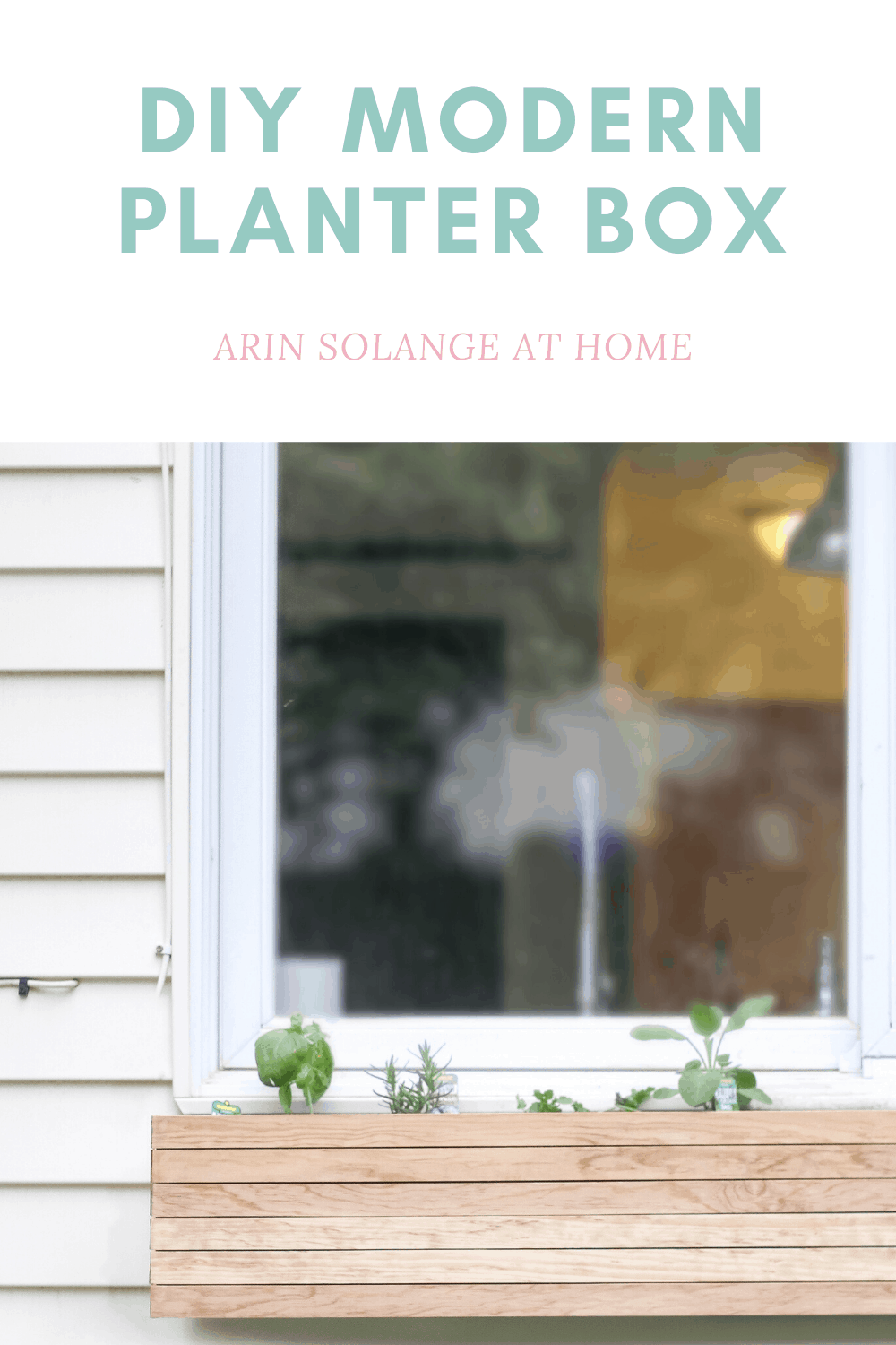 DIY planter box that is easy and modern