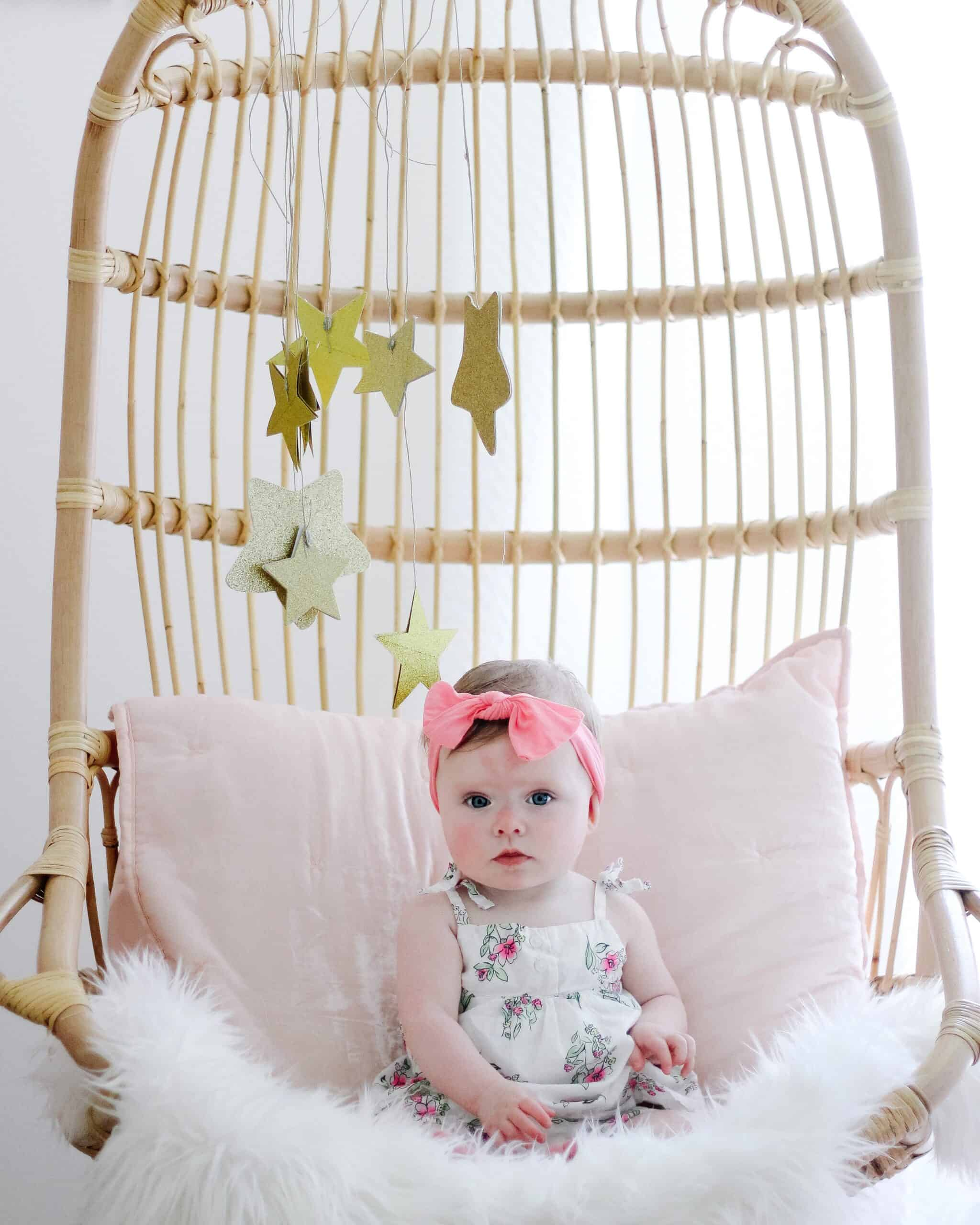 baby girl in Serena and Lily Chair