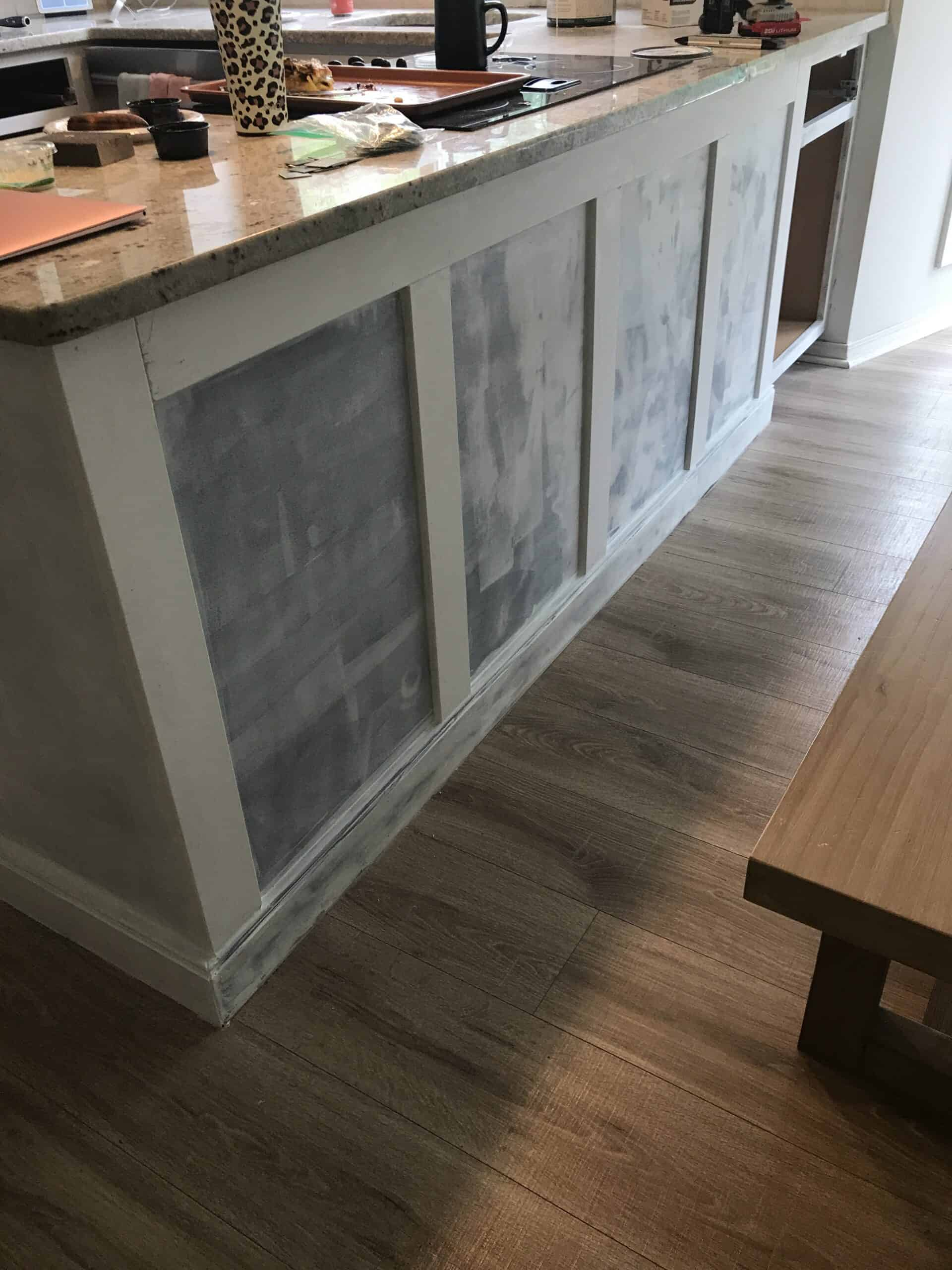added trim to kitchen island