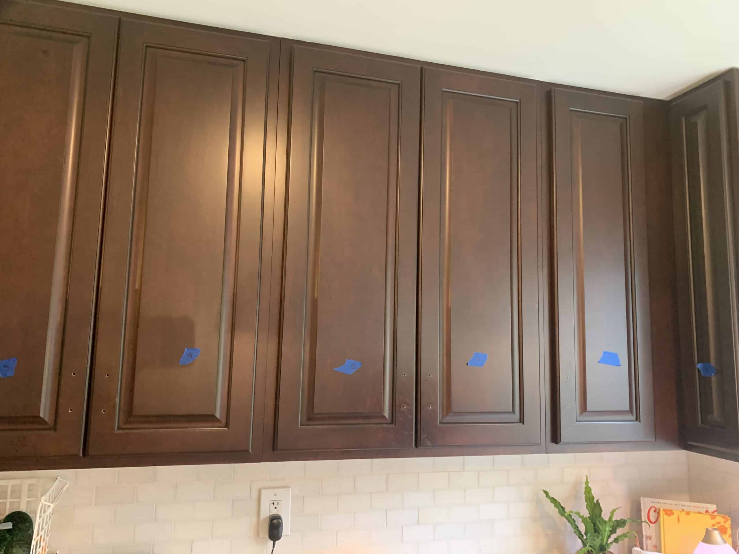 Labeled cabinets for painting