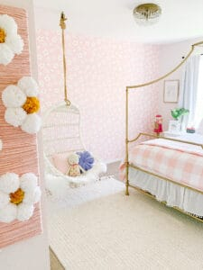 Serena and lily hanging chair in little girls room