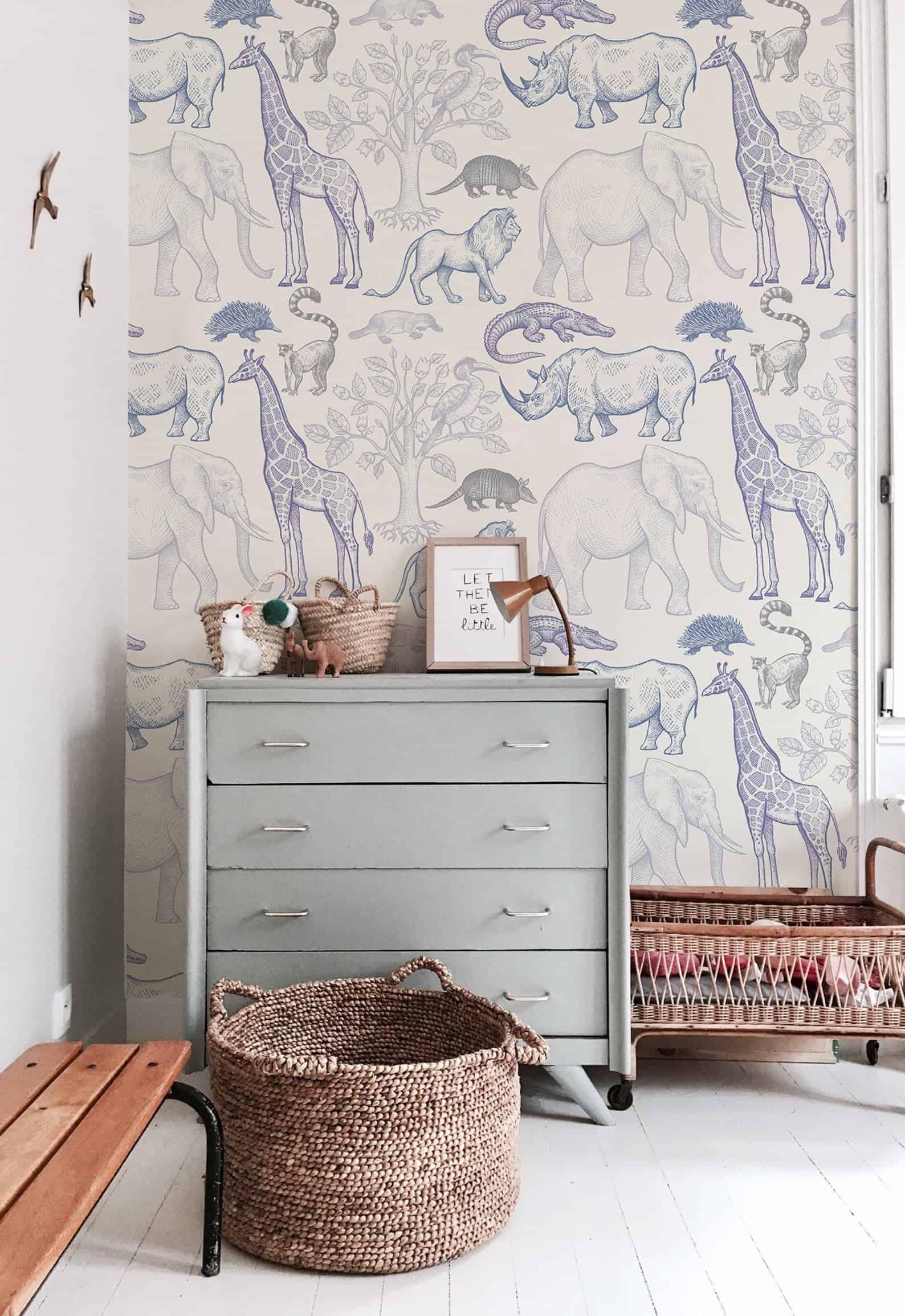 blue animal themed boys room