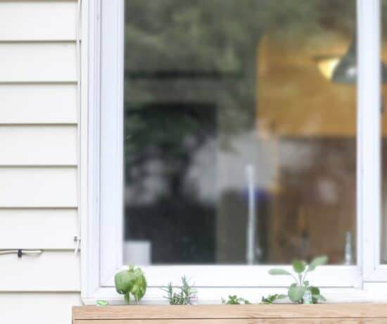 DIY Planter Box on house