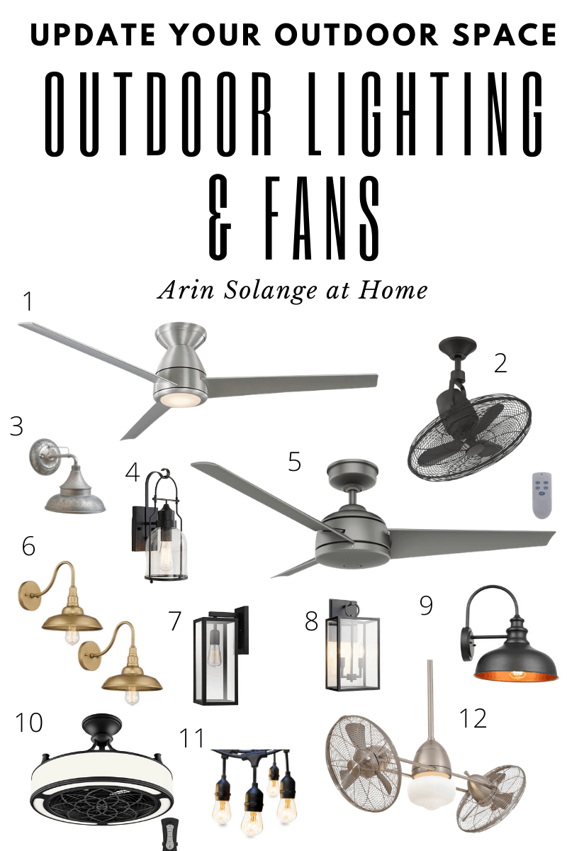 outdoor lighting and fans round up