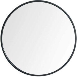black round metal mirror