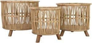 wicker baskets with feet