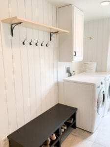 Laundry Room with Vertical Shiplap